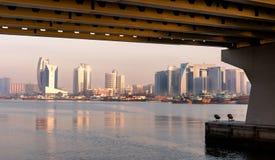 linia horyzontu Dubaju creek Zdjęcia Stock