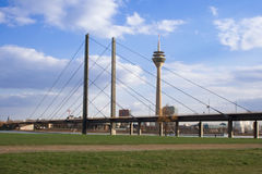 Linia horyzontu Dusseldorf zdjęcia royalty free