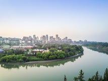 Linia horyzontu Edmonton śródmieście, Alberta, Kanada zdjęcia royalty free