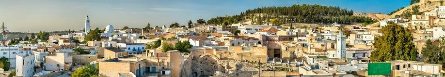 Linia horyzontu El Kef, miasto w północno-zachodni Tunezja Zdjęcie Royalty Free