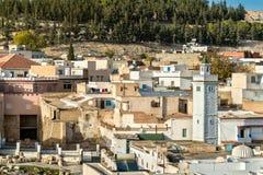 Linia horyzontu El Kef, miasto w północno-zachodni Tunezja Fotografia Royalty Free