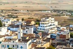 Linia horyzontu El Kef, miasto w północno-zachodni Tunezja Obrazy Royalty Free