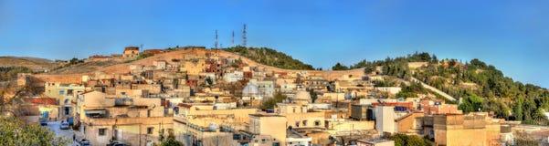 Linia horyzontu El Kef, miasto w północno-zachodni Tunezja Zdjęcia Stock