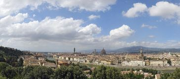 linia horyzontu florence Włochy Zdjęcia Royalty Free