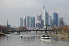 Linia horyzontu Frankfurt Obrazy Stock