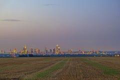 Linia horyzontu Frankfurt magistrala - Am - Zdjęcie Stock