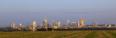 Linia horyzontu Frankfurt magistrala - Am - Fotografia Stock
