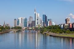 Linia horyzontu Frankfurt magistrala, Niemcy zdjęcie stock