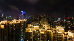 Linia horyzontu Guangzhou miasto z mieszkaniową ćwiartką Zdjęcie Stock