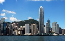 linia horyzontu hong kongu Fotografia Royalty Free