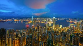 linia horyzontu hong kongu obrazy stock