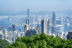 linia horyzontu hong kongu Obrazy Royalty Free