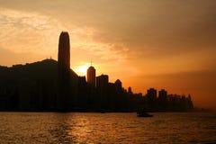 linia horyzontu hong kongu Zdjęcie Stock
