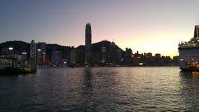 linia horyzontu hong kongu Obraz Royalty Free