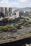 Linia horyzontu i budynki Caracas zdjęcie stock