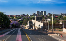 Linia horyzontu Johannesburg Zdjęcia Royalty Free