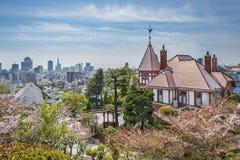 Linia horyzontu Kobe miasto, Japonia zdjęcie royalty free