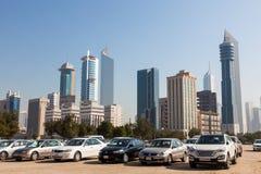 Linia horyzontu Kuwejt miasto Zdjęcia Royalty Free