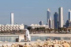 Linia horyzontu Kuwejt miasto Obrazy Stock
