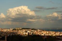 linia horyzontu lizbońskiego Zdjęcie Stock