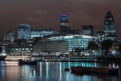 linia horyzontu london nocy Fotografia Royalty Free