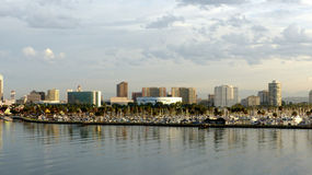 Linia horyzontu Long Beach Obrazy Royalty Free