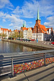 Linia horyzontu Lubeck stary miasteczko, Niemcy Zdjęcia Royalty Free