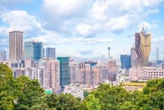 Linia horyzontu Macau Obrazy Royalty Free