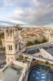 Linia horyzontu Madryt od urzędu miasta Obraz Royalty Free