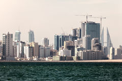 Linia horyzontu Manama miasto, Bahrajn Obraz Royalty Free