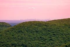 linia horyzontu manhattan Zdjęcie Royalty Free