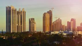 linia horyzontu Miami plażowa Fotografia Royalty Free