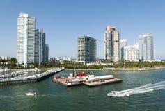 linia horyzontu Miami plażowa Zdjęcia Royalty Free