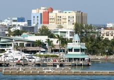 linia horyzontu Miami plażowa Zdjęcie Stock