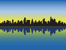 linia horyzontu miasto. Obrazy Stock