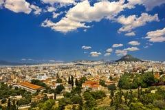 Linia horyzontu miasto Ateny Obrazy Royalty Free
