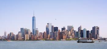 Linia horyzontu Miasto Nowy Jork, usa Zdjęcia Royalty Free