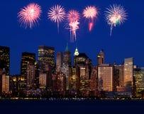 linia horyzontu niższa Manhattan obrazy royalty free