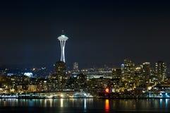 linia horyzontu nocy Seattle Zdjęcie Royalty Free