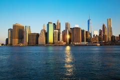 linia horyzontu nowego Jorku Zdjęcie Royalty Free
