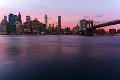 linia horyzontu nowego Jorku Fotografia Stock