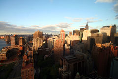 linia horyzontu nowego Jorku wschód słońca Zdjęcie Royalty Free