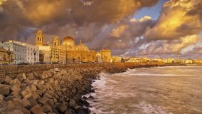 Linia horyzontu od Campo Del Sura Cadiz Hiszpania fotografia royalty free