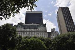 Linia horyzontu od central park w środku miasta Manhattan od Miasto Nowy Jork w Stany Zjednoczone zdjęcie royalty free