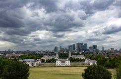 Linia horyzontu od Greenwich parka fotografia stock
