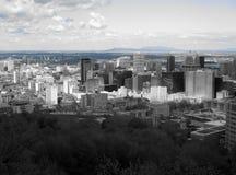 Linia horyzontu od Mont Królewskiego, Montreal obrazy royalty free