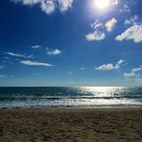 Linia horyzontu od plaży obrazy royalty free