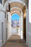 Linia horyzontu od Vejer de losu angeles Frontera, Andalusia, Hiszpania Obrazy Royalty Free