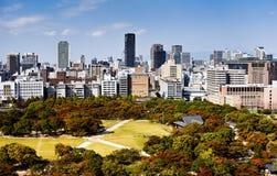 Linia horyzontu Osaka Obrazy Royalty Free