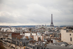 Linia horyzontu Paryski Francja i wieża eifla fotografia stock